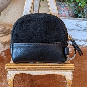 Madison West Suede Leather Keyring Pouch
